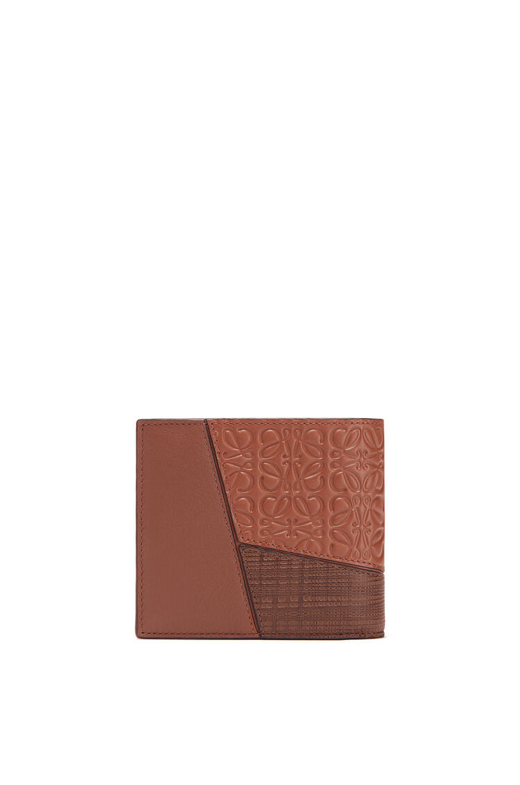 LOEWE 纹理牛皮革 Puzzle 双折钱包 Cognac pdp_rd