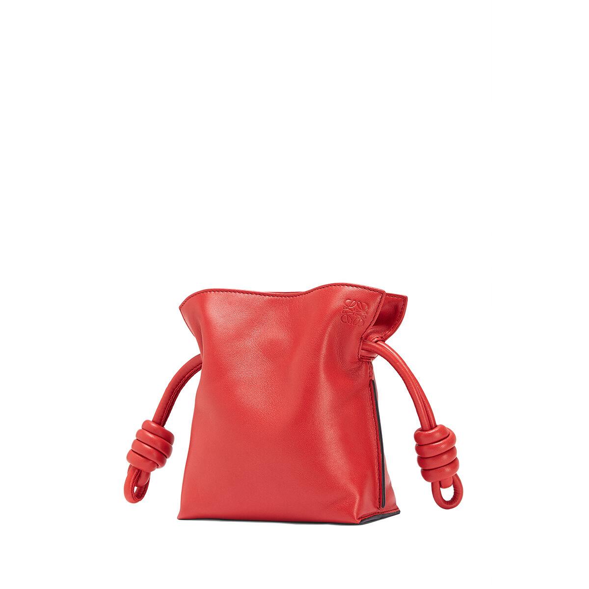 LOEWE Mini Flamenco Knot Bag 猩红色 all