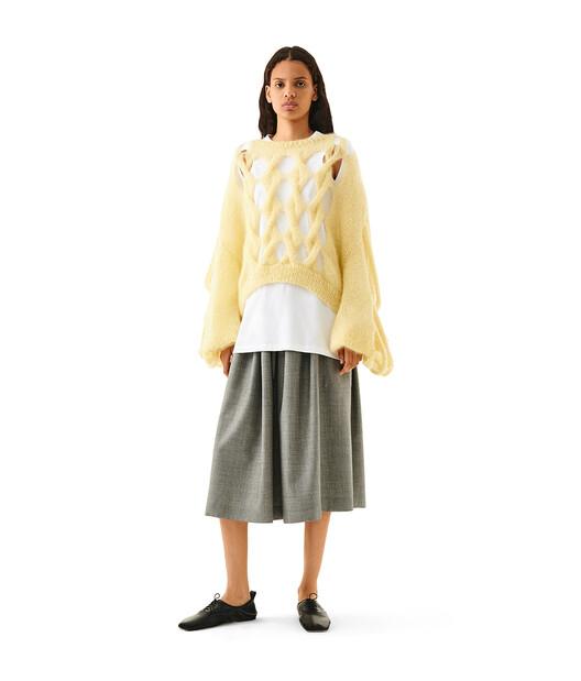 LOEWE Drawstring Shorts Grey front