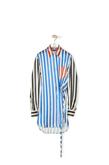 LOEWE Wrap shirt in striped silk Multicolor pdp_rd