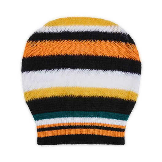 LOEWE Paula Stripe Knit Beanie White/Green/Orange front