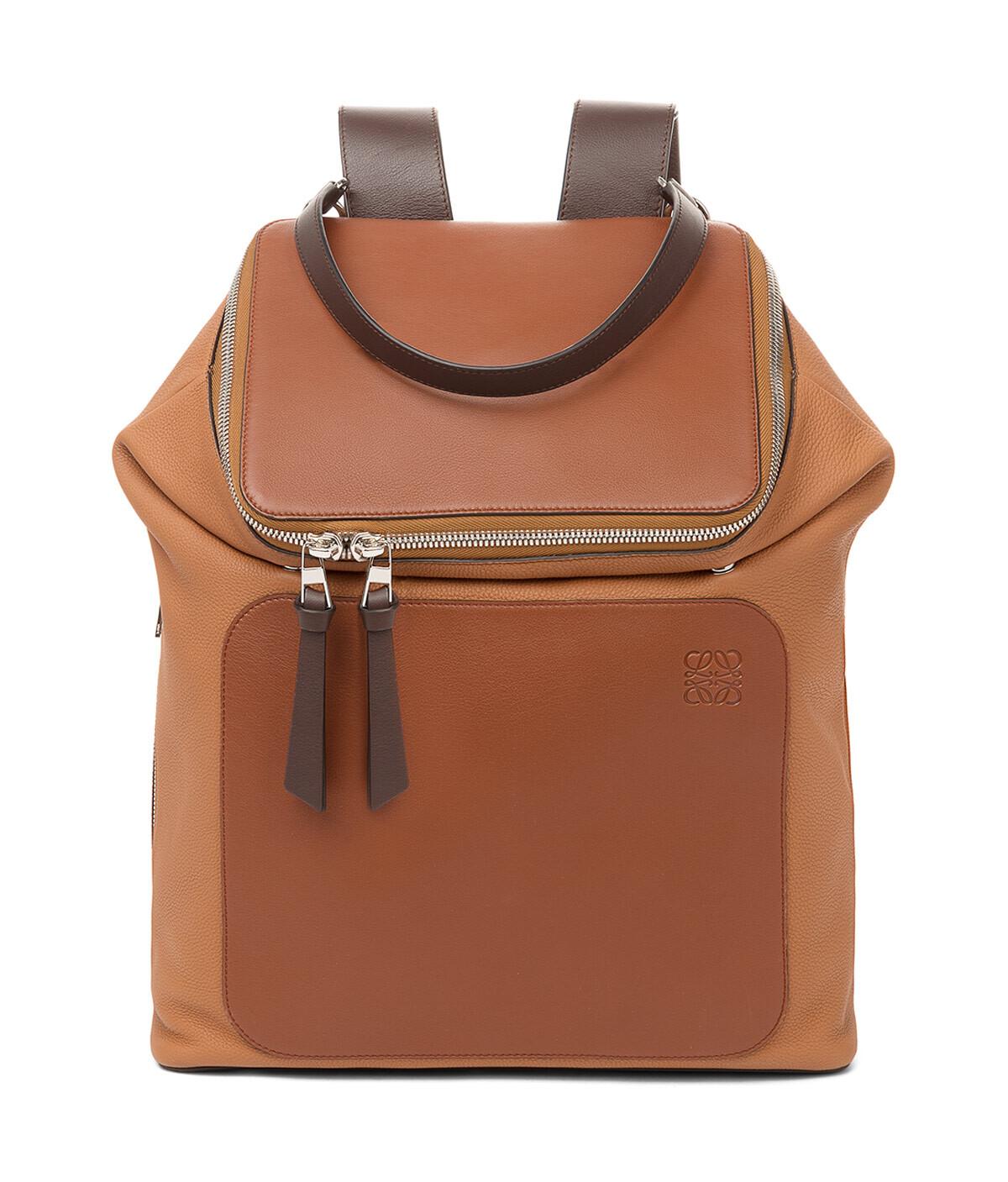 LOEWE Goya Backpack Cognac/Tan front