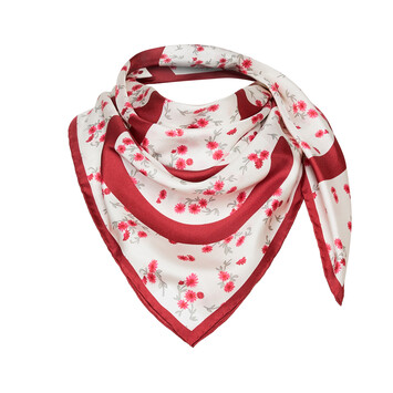 LOEWE 90X90 Flower Scarf レッド front