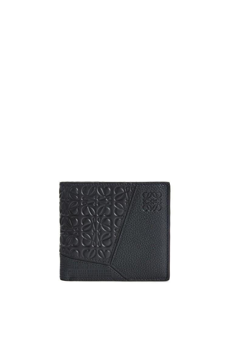 LOEWE Puzzle Bifold Coin Wallet In Calfskin Black pdp_rd