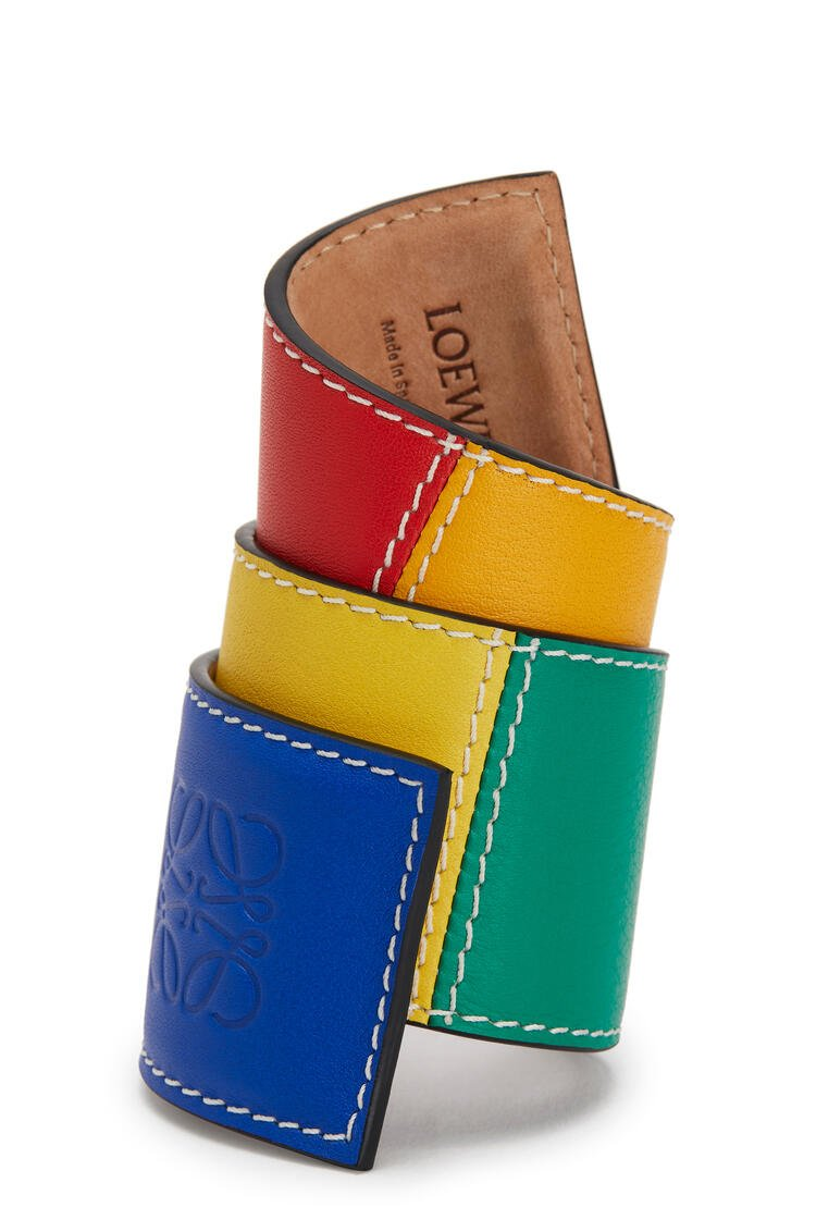LOEWE Big slap bracelet in smooth calfskin 多色拼接 pdp_rd