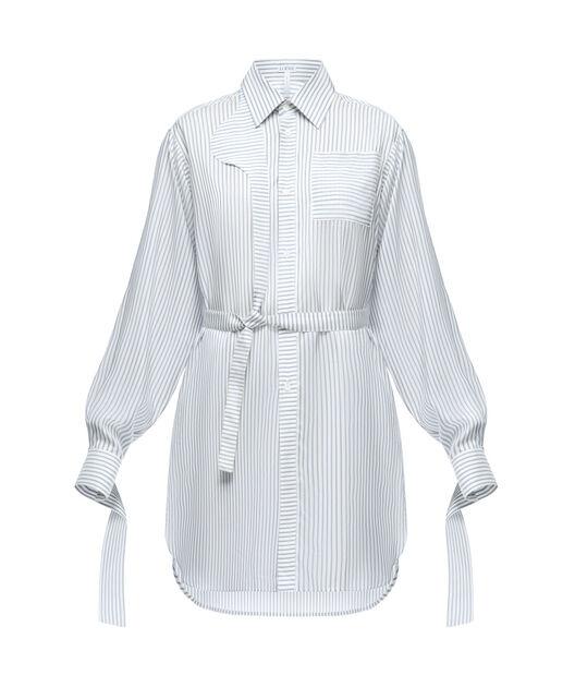 LOEWE Strap Oversize Shirt Stripes White/Blue front