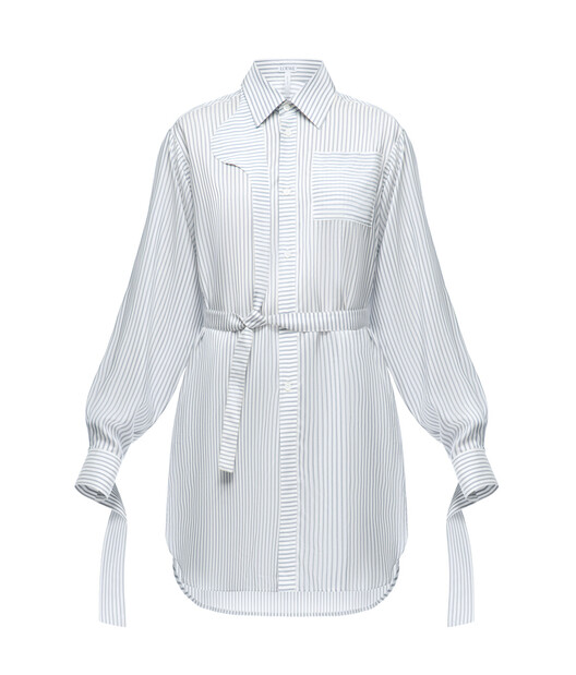 70ae520db0b4 LOEWE Strap Oversize Shirt Stripes White/Blue front