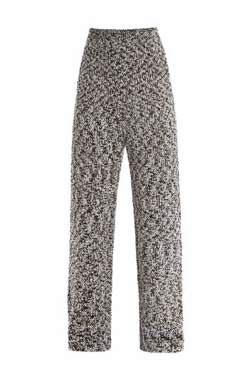 LOEWE Lurex Knit Trousers Light Grey front