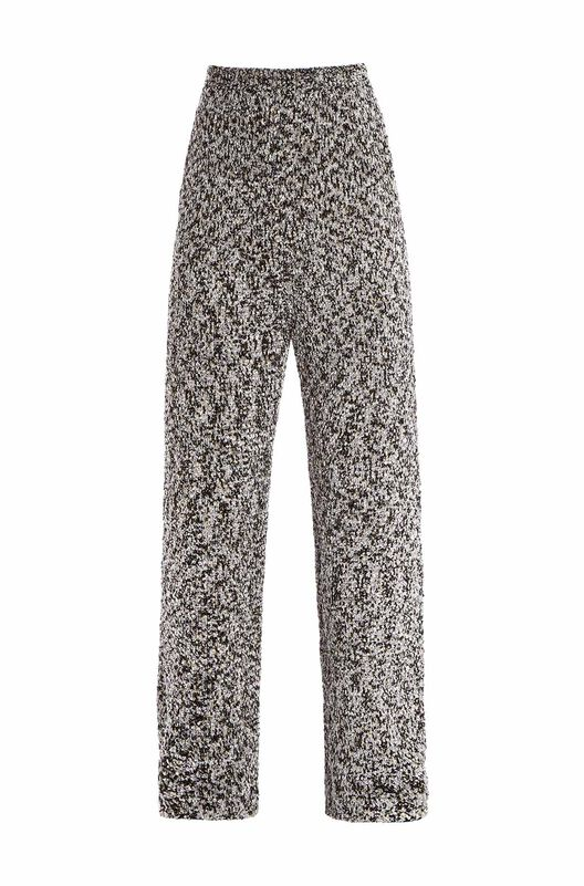 LOEWE Lurex Knit Trousers 浅灰色 front