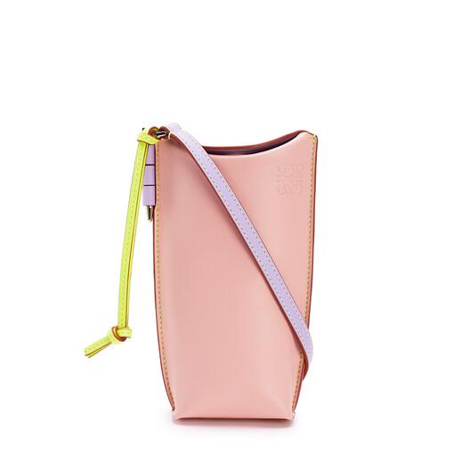 LOEWE Gate Pocket En Piel De Ternera Suave Peach Pink/Soft Apricot front