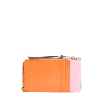 LOEWE Color Block Coin Card Holder orange/candy front
