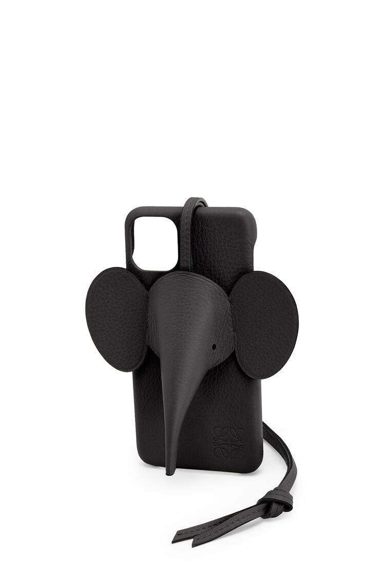 LOEWE Elephant cover for iPhone 11 Pro Max in classic calfskin 黑色 pdp_rd
