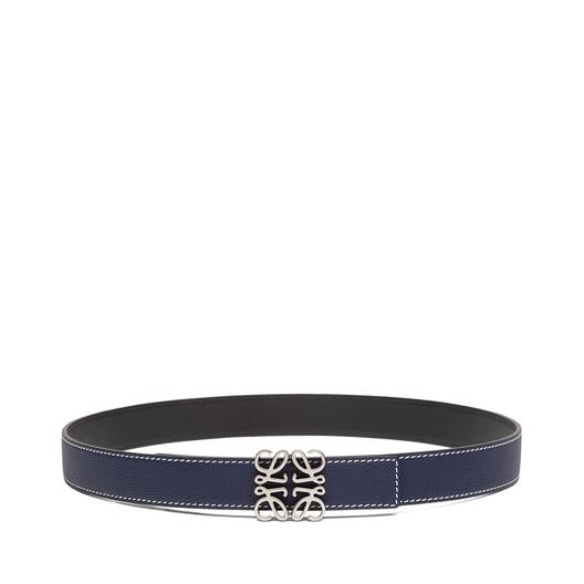 LOEWE Cinturon Anagrama 3.2 Cm Azul Marino/Negro/Paladio Viej front