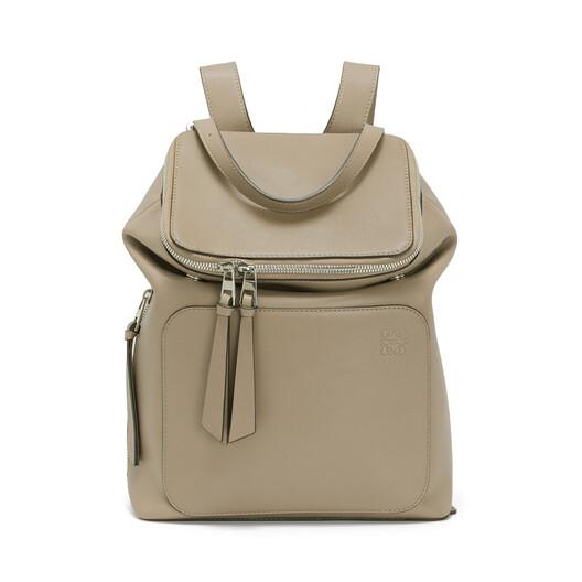 LOEWE Goya Small Backpack Light Grey front