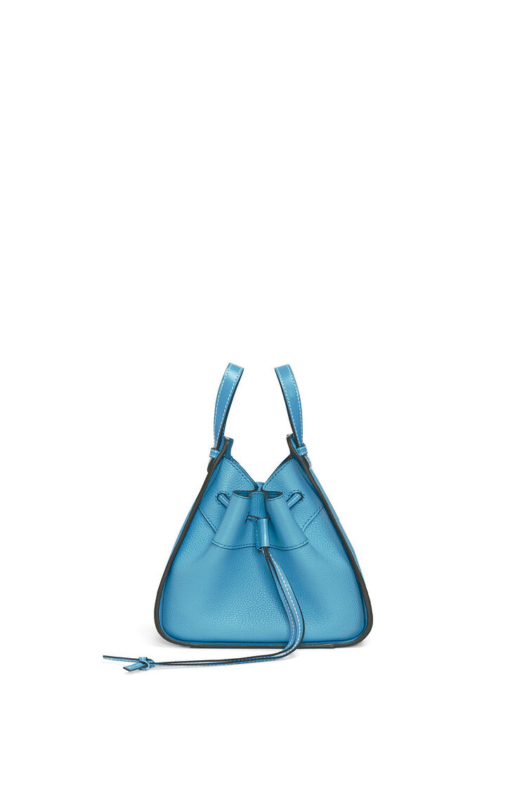 LOEWE Mini Hammock Drawstring bag in soft grained calfskin Dark Lagoon pdp_rd