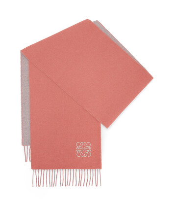 LOEWE 30X180 Anagram Scarf Rosa/Gris Perla front