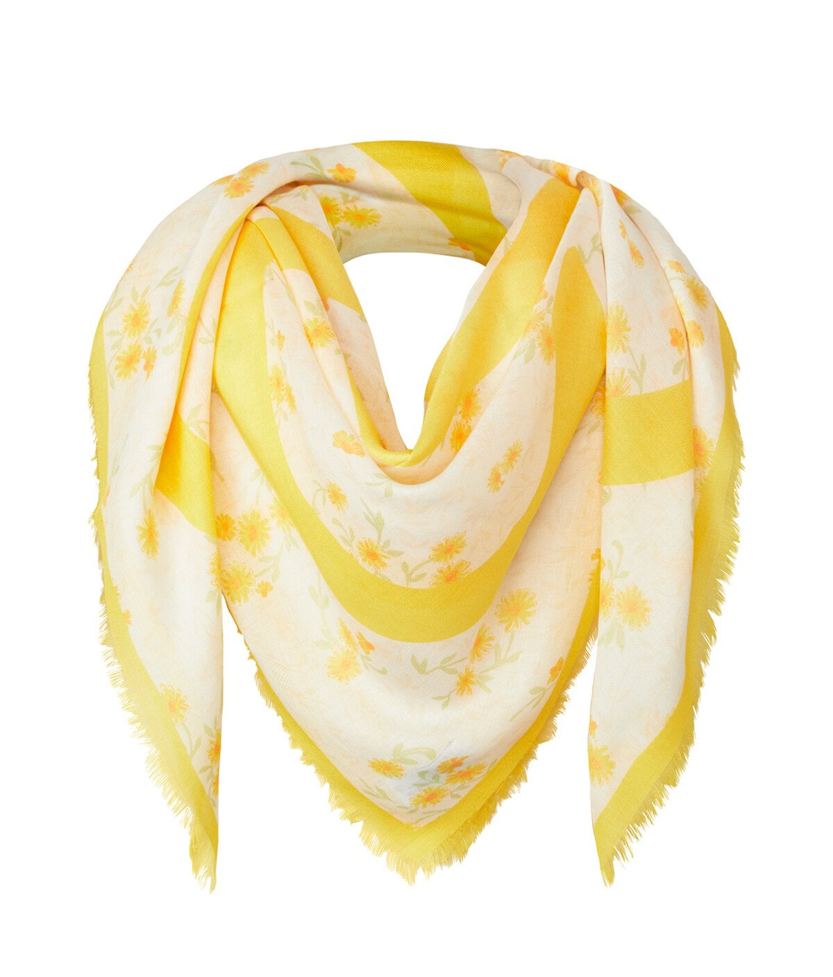 LOEWE 140X140 Flower Scarf Yellow front