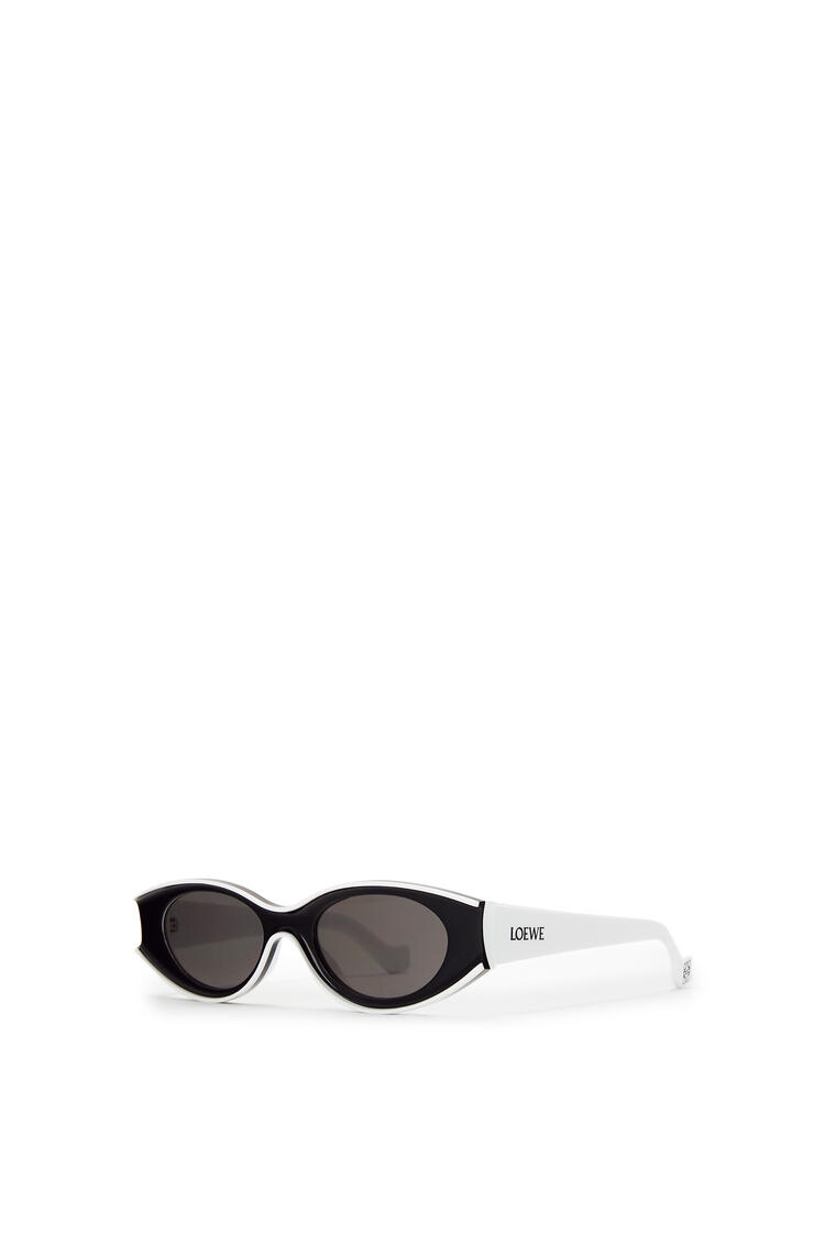 LOEWE Small Paula's Ibiza Sunglasses In Acetate 白/黑 pdp_rd