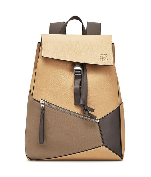 LOEWE Puzzle Backpack Desert/Dark Taupe front