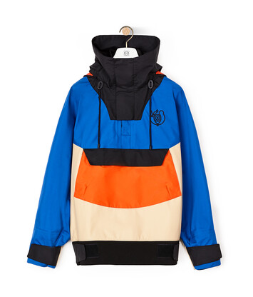 LOEWE Pullover With Hoodie Azul/Beige front