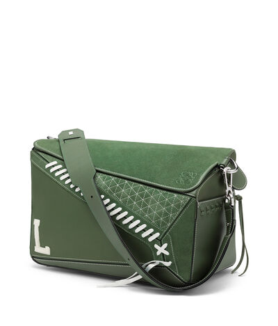 LOEWE Puzzle Sneaker Xl Bag Green front
