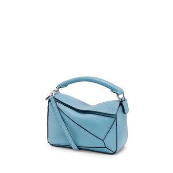 LOEWE Puzzle Mini Bag Light Blue front