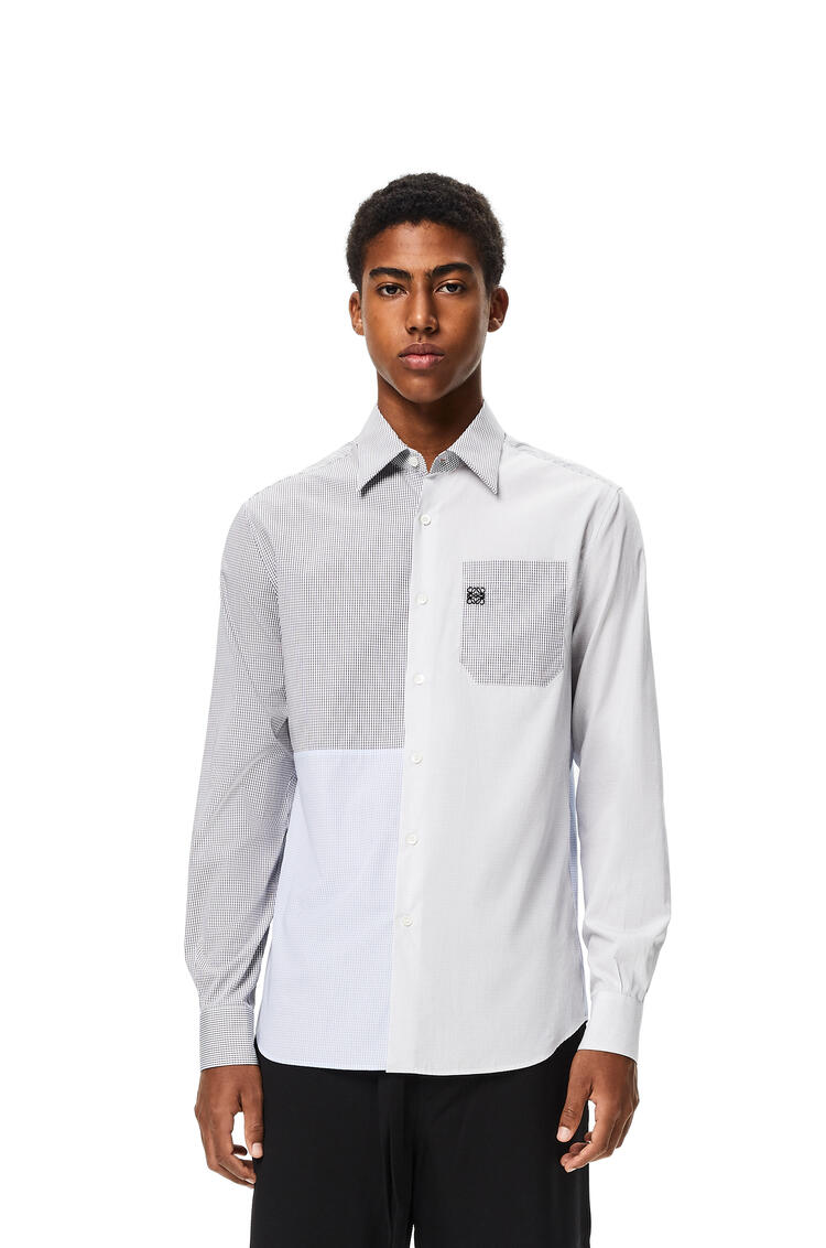 LOEWE Patchwork shirt in check cotton White/Blue/Black pdp_rd
