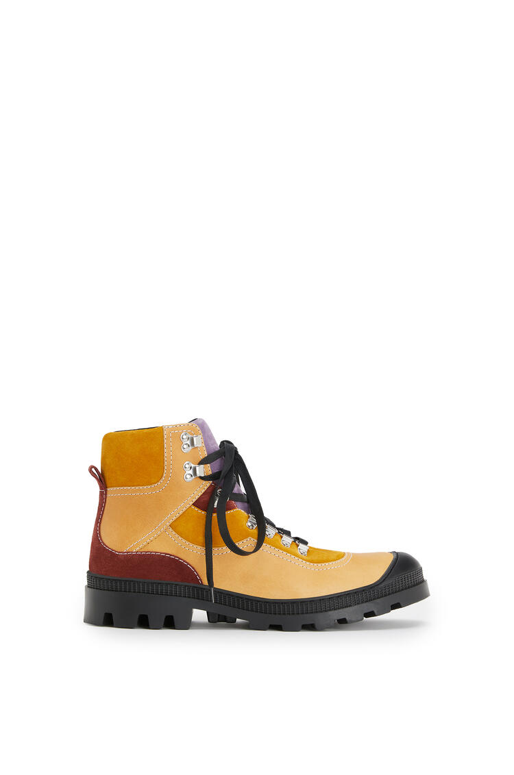LOEWE Hiking boot in split calfskin Mustard/Lavender pdp_rd