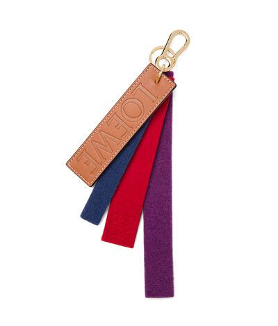 LOEWE Multi Stripes Felt Charm Multicolor/Tan front