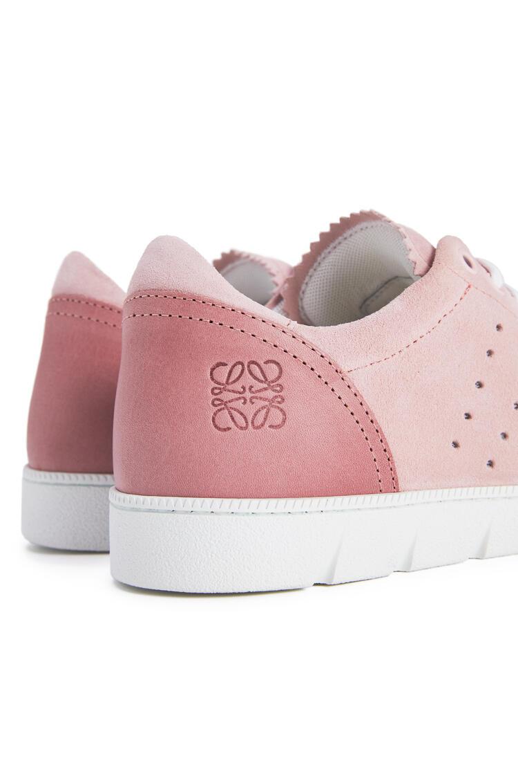 LOEWE Soft sneaker in split calfskin Light Pink pdp_rd