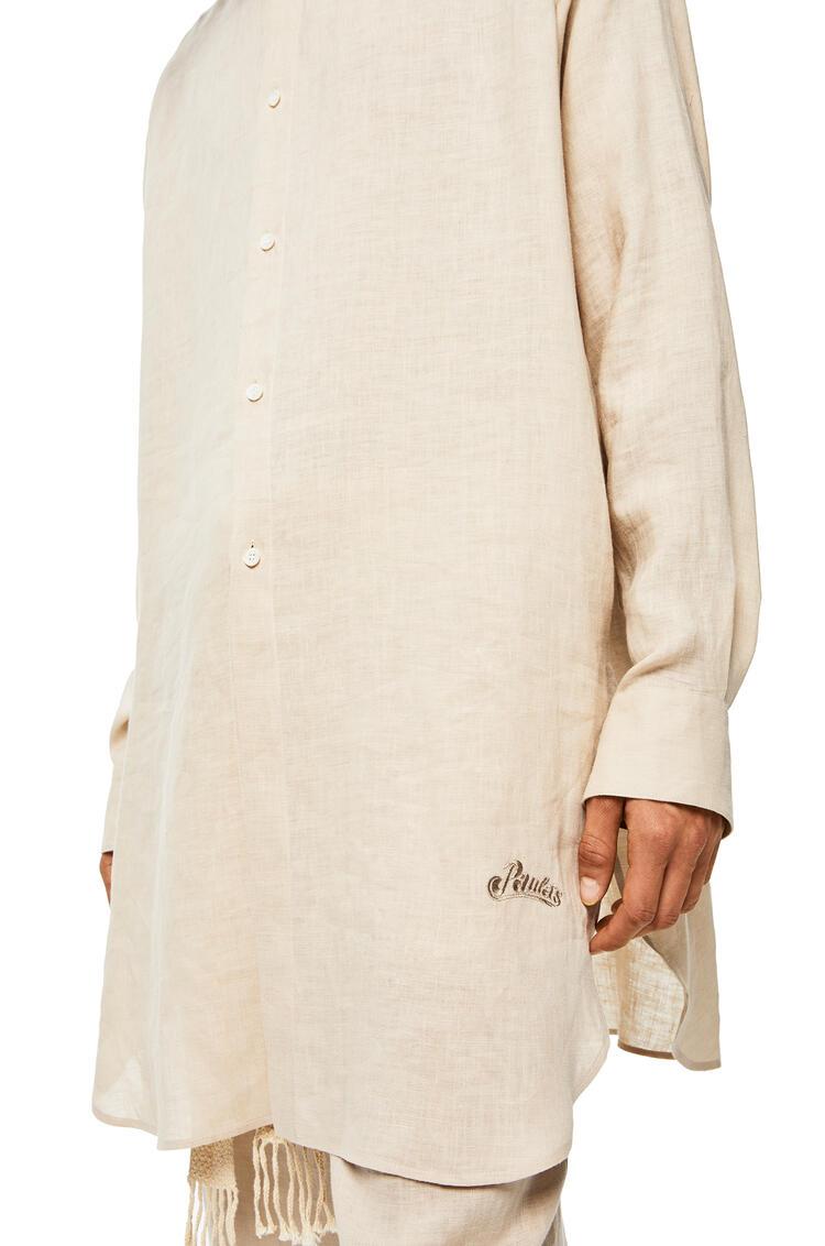 LOEWE Camisa cuello mao de lino y algodón Beige pdp_rd