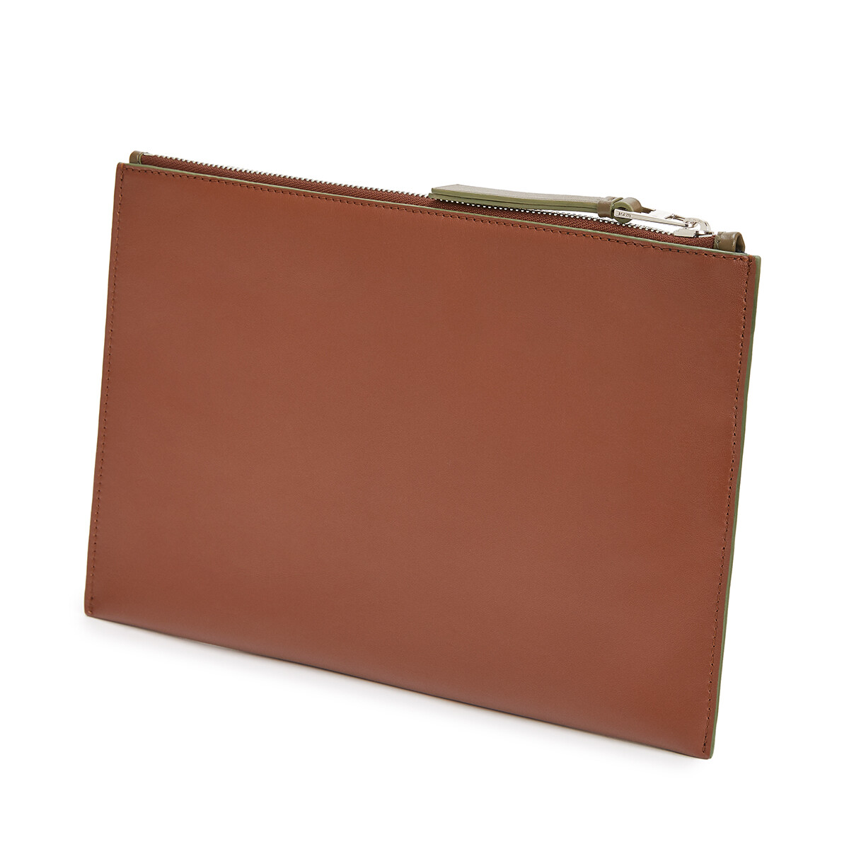 LOEWE Brand Flat Pouch Cognac front