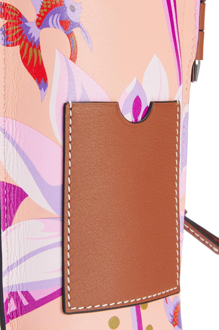 LOEWE Gate pocket in printed classic calfskin Salmon/Pink pdp_rd