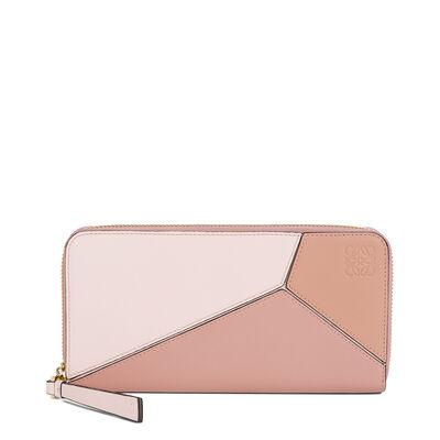 LOEWE Puzzle Zip Around Wallet Blush Multitone front