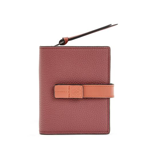 LOEWE Compact Zip Wallet Vino/Naranja Tostado  front