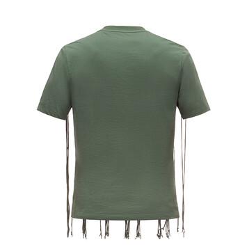 LOEWE T-Shirt Anagram Fringes Verde/Rojo front