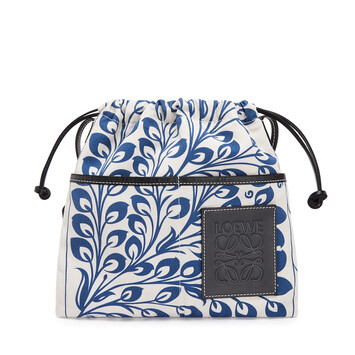 LOEWE Drawstring Pouch Tiles Small Blue front