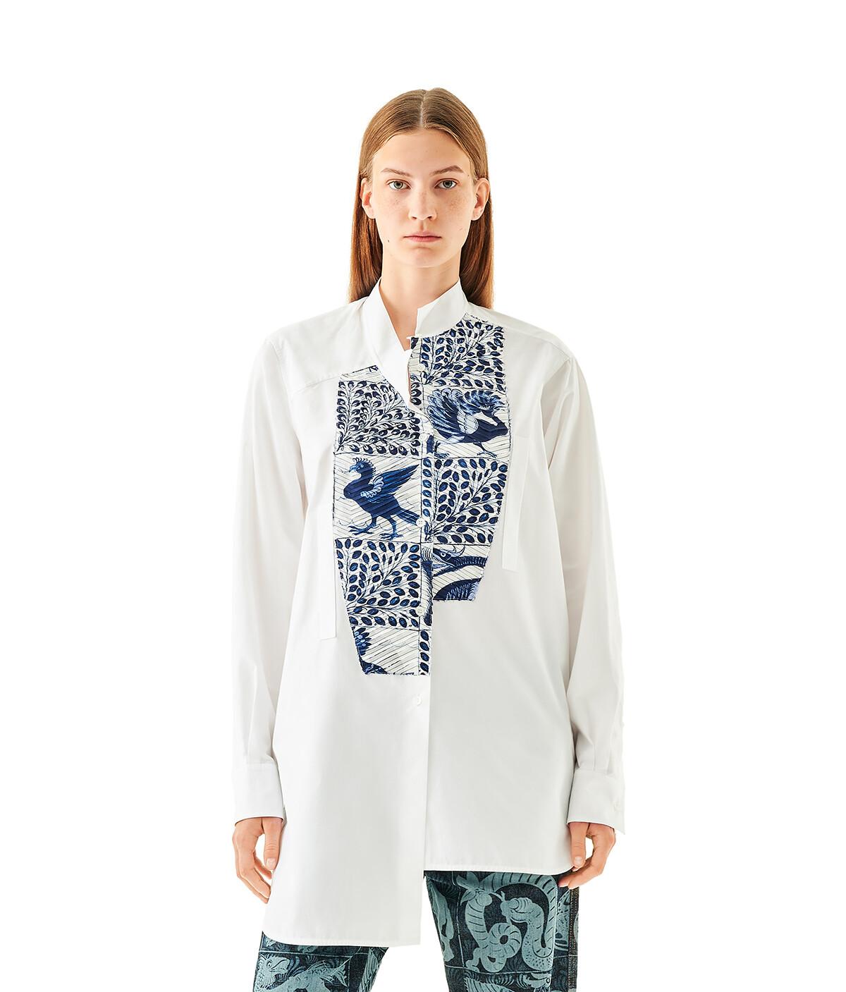 LOEWE Asymmetric Shirt Animals White/Blue front