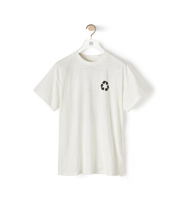 LOEWE Recycling Print T-Shirt Blanco front