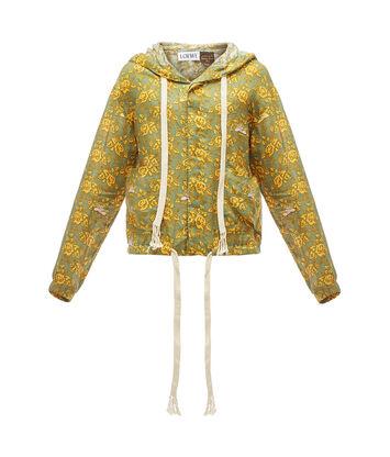 LOEWE Paula Print Hood Jacket Verde/Multicolor front