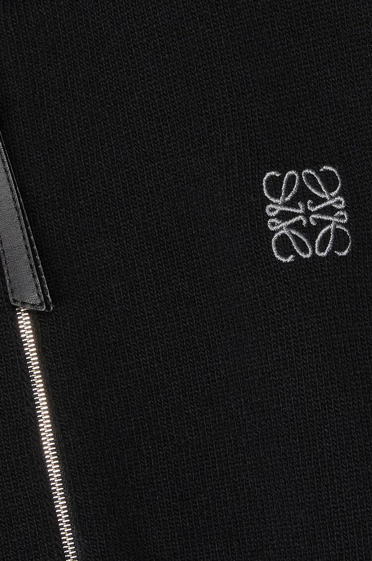 LOEWE Anagram embroidered zip hoodie in cashmere Black pdp_rd