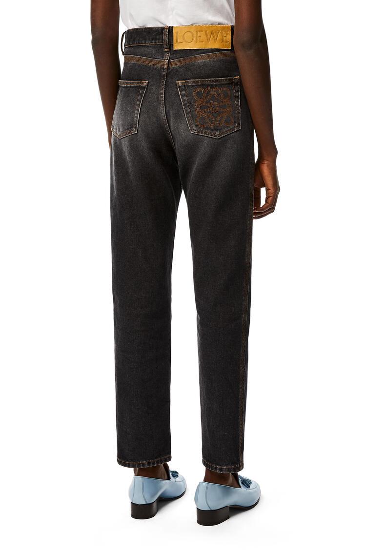 LOEWE Tapered jeans in denim Black pdp_rd