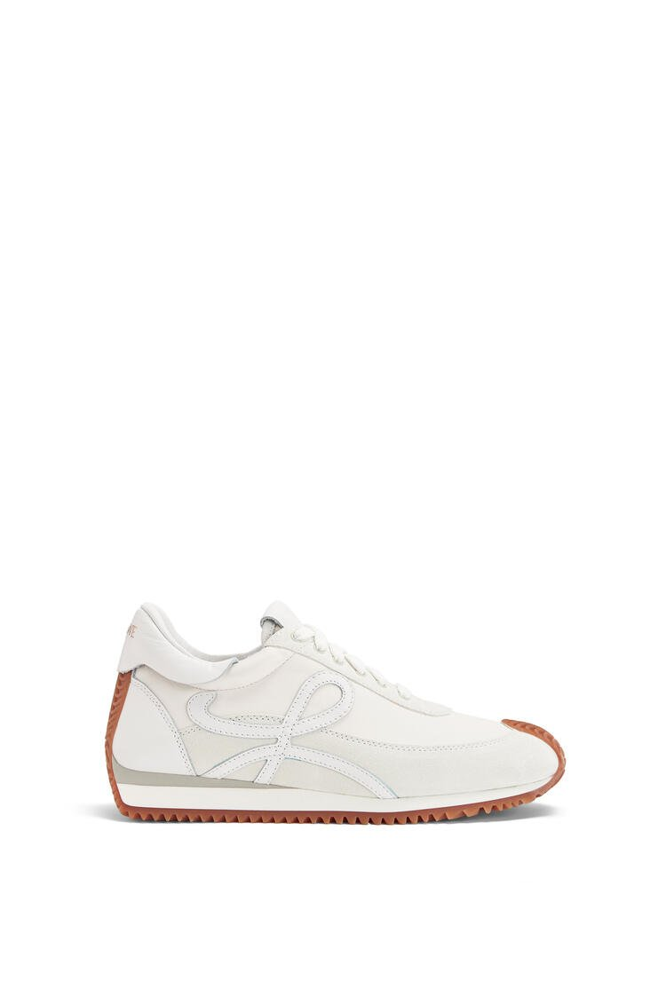 LOEWE Flow Runner in lambskin and calfskin Soft White pdp_rd