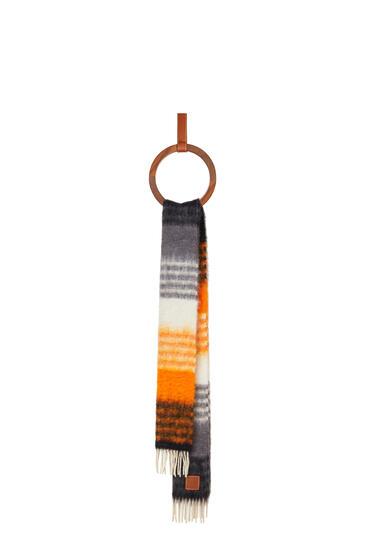 LOEWE 28 x 185 cm scarf in striped mohair Multicolor/Orange pdp_rd