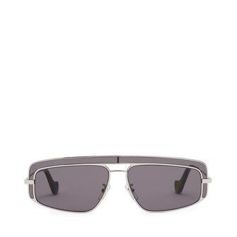 LOEWE Rectangular Sunglasses Mate Rhodium/Grey front