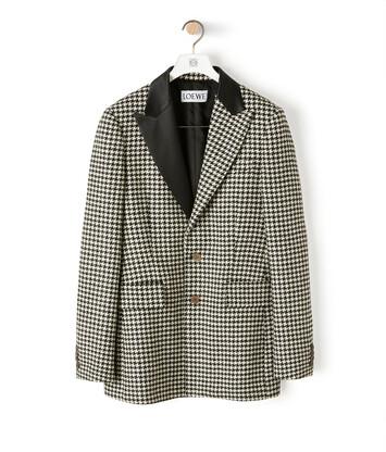 LOEWE 2Bt Tuxedo Houndstooth Jacket Black/White front