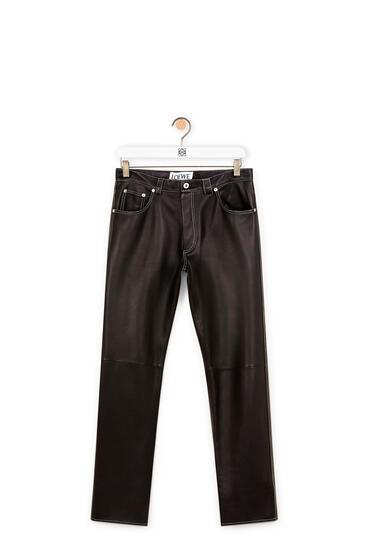 LOEWE Pantalón en napa Negro pdp_rd