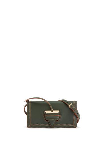 LOEWE Mini Barcelona Soft Bag In Soft Grained Calfskin Vintage Khaki pdp_rd