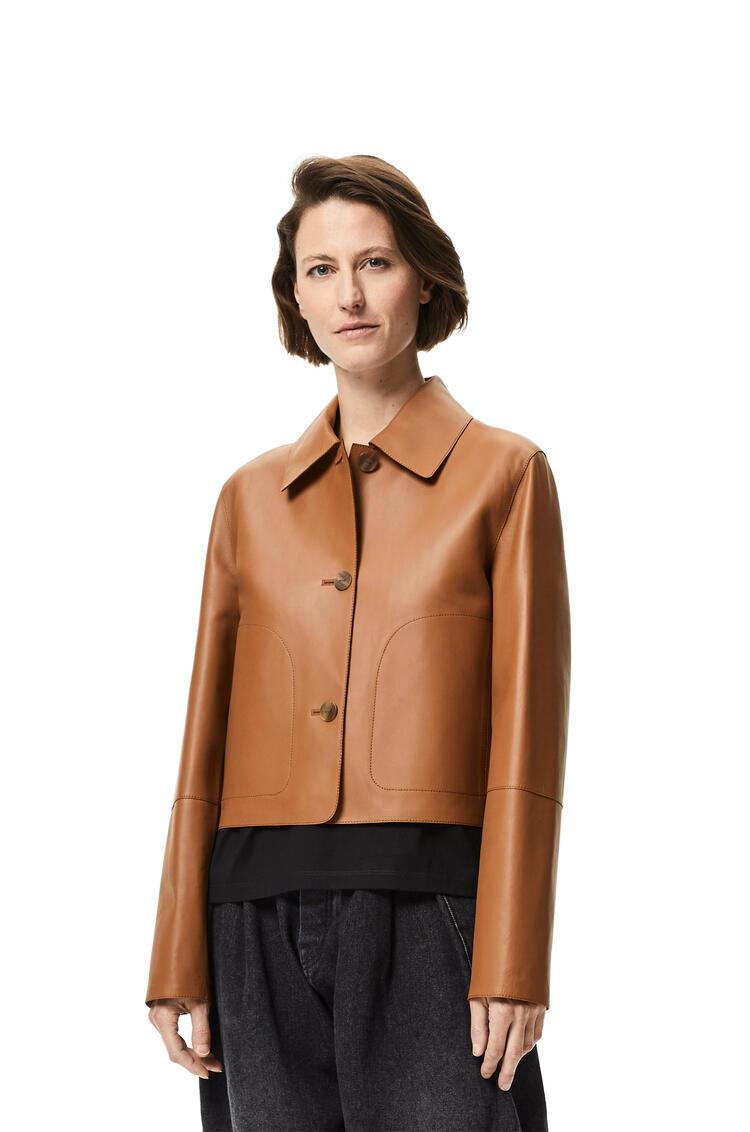 LOEWE Button jacket in nappa Brown/Khaki Green pdp_rd