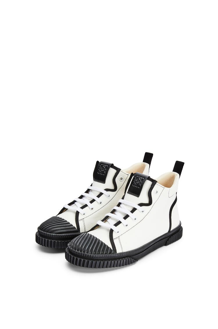 LOEWE High top sneaker in canvas Soft White pdp_rd